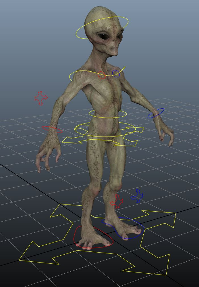 Turbosquid alien model, displayed using the DX11 Shader.